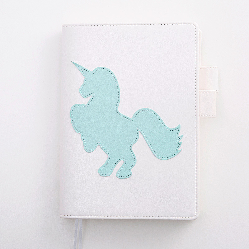 Lovedoki 2018 Cute Notebook Unicorn A5A6 Diary Personal Planner Weekly Monthly Plan for Gift Office Stationery School Supplies tutu lovedoki foil gold notebook 2018 a6 planner traveler s notebook personal diary gift stationery store school supplies g0002