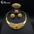 New High quality Nigerian Wedding African jewelry sets Beads gold plating Dubai Plated Fashion Wedding Necklace Jewelry set