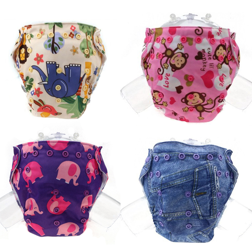 Clearance Washable Cloth Nappy Baby Diaper Pocket Nappy Cloth Reusable Diaper Adjustable ...