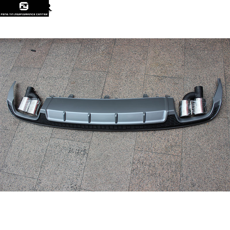 A6 изменения S LINE ПП задний бампер диффузор выхлопные трубы для Audi A6 нормальной бампер 13 16