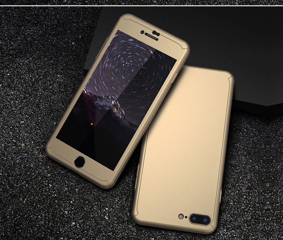 FLOVEME Luxury 360 Full Case For iPhone 7 7 Plus Glass Film Phone Accessories For iPhone 6 6S Plus Xiaomi Mi 6 Huawe P 10 Covers (12)