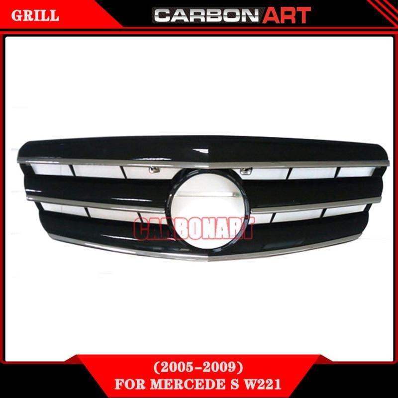 2005-2009 Mercedes S class W221 spare parts front bumper auto vehicle Grill автомобильный коврик seintex 86790 для mercedes s class w210