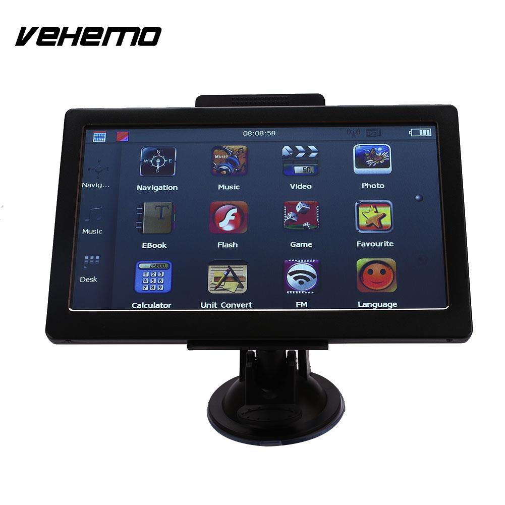 Vehemo 7 Inch Car GPS Navigation 8GB Auto With European Map Black Touch Screen портативный gps навигатор lk navigation e18 gps