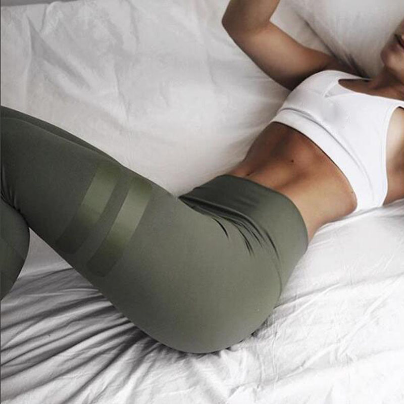 NORMOV Fashion Women   Leggings   Slim High Waist Elastic   Leggings   Patchwork Push Up Female Pants Solid Workout   Leggings   Plus Size