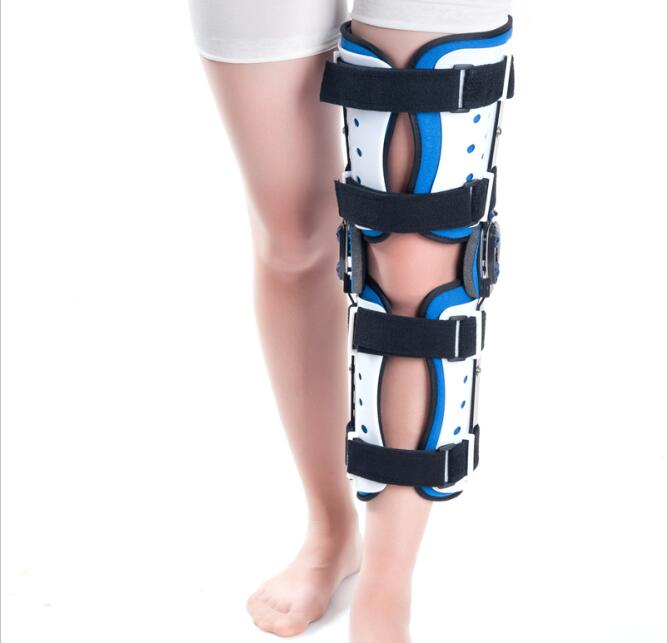 Free Shipping Adult Adjustable Knee Correction Orthosis Germany Knee Stabiliser Support Multi Orthosis Comfort Knee Brace Cheap adult adjustable knee orthosis knee support with bilateral hinges medical articulated knee brace patella compression kneepad