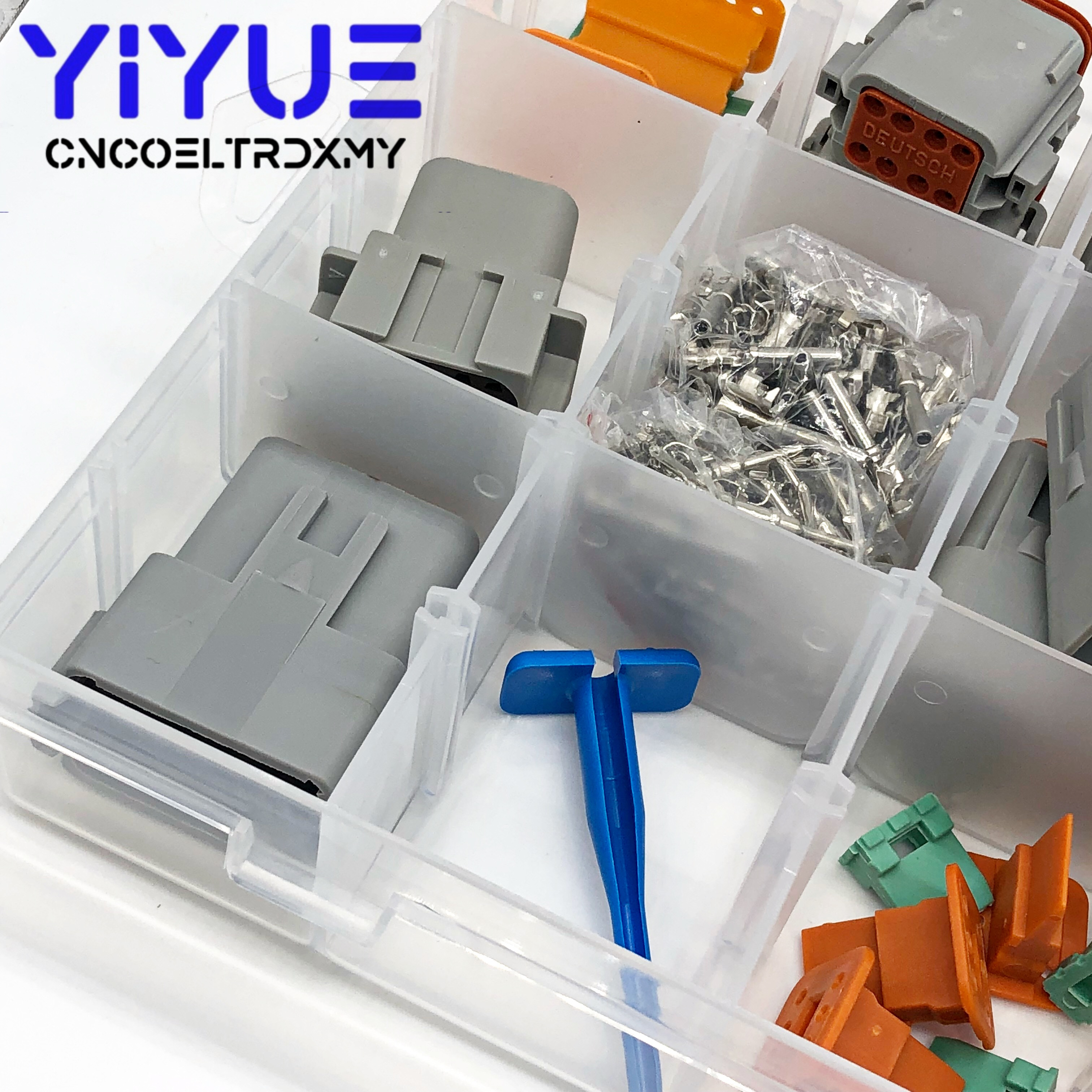 Image 3 - 225pcs Deutsch DT automotive connectors kit + 16 18AWG Crimp Terminals + removal tool 0411 336 1605-in Connectors from Lights & Lighting