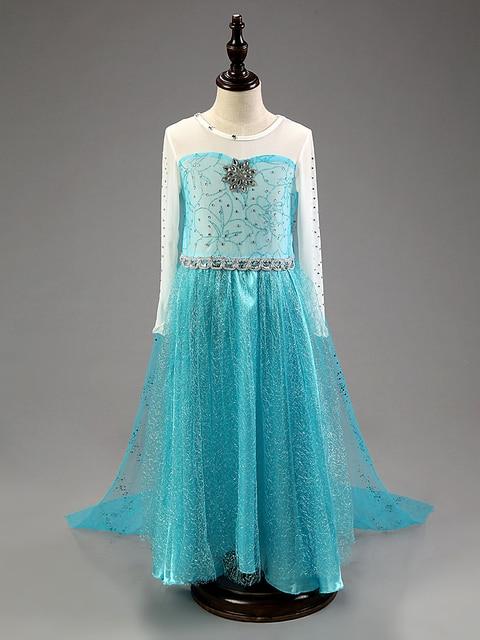 2018New Summer dress anna elsa disfraz princess sofia dress infantil fever elza costume vestido rapunzel jurk disfraces Clothing 5