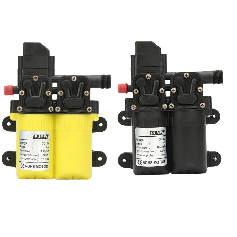 Yellow Water Pump Double Suction Electric Self Priming Diaphragm Water Pump 12V 100W