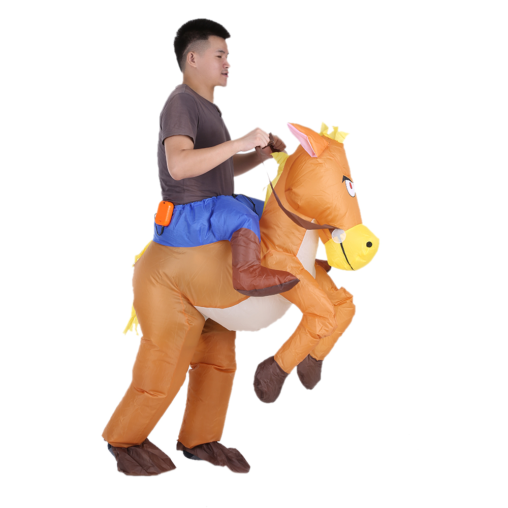 Funny Cowboy Rider on Horse Inflatable Costume Outfit for Adult Fancy Dress Halloween Carnival Party Blow Up Inflatable Costume-in Party DIY Decorations ...  sc 1 st  AliExpress.com & Funny Cowboy Rider on Horse Inflatable Costume Outfit for Adult ...