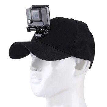 Para Go Pro accesorios de lona gorra de béisbol con hebilla de montaje de gancho J tornillo para GoPro HERO 7/6/5/4 sesión HERO Cámara de Acción