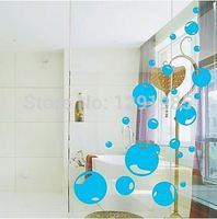 Lovely Bubbles Wall Sticker Decal Ideal for Kid Nursery Home Decor fashion Removable PVC poster wallpaper Toilet Bathroom Decal