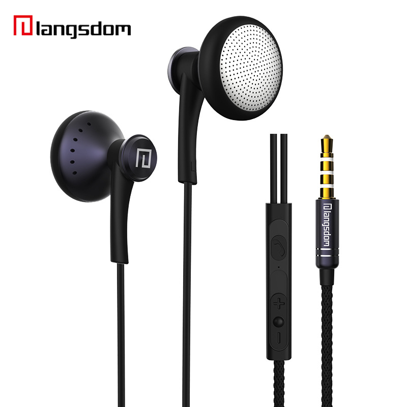 Newest Music Earphone with Microphone Bass In Ear High Quality Noise Cancelling Langsdom Headphones for Mobile Phone