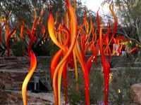 Escultura de cristal de Murano soplado hecho a mano de hierba