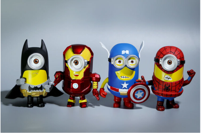 Superheroes Minion 8 piece set Action Figures