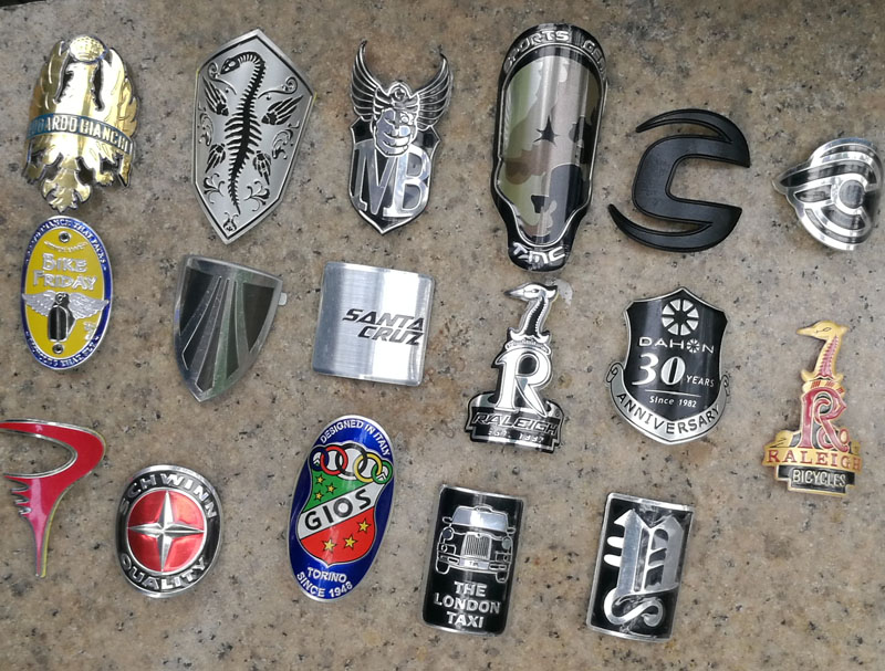 Alloy Head Badge Decals Stickers FOR BMX Bicycle MTB Bike Frame Fixed Gear Tube brompton stickers