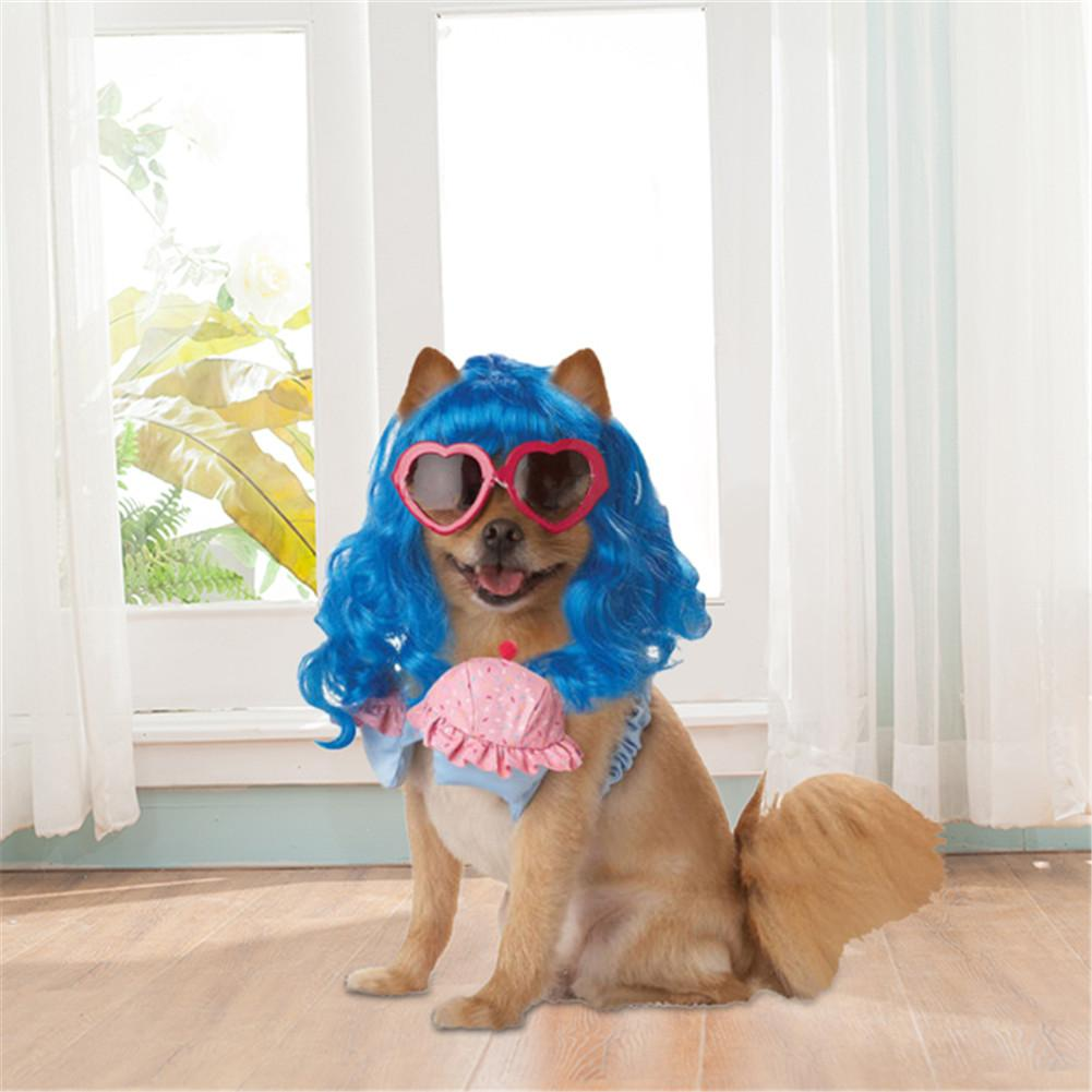 dog costume accessories blue long