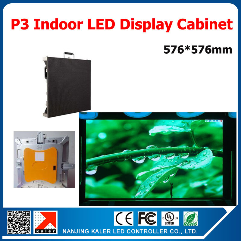 TEEHO P3 Led Display Screen RGB Full Color Message Video Led Panel 576X576mm With Receiving Card 576*576mm Led Display Cabinet