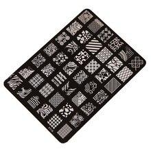Sellos de Placa clavo Que Estampa la Placa De Impresión De Imágenes de Uñas de Manicura Art Decor D6614