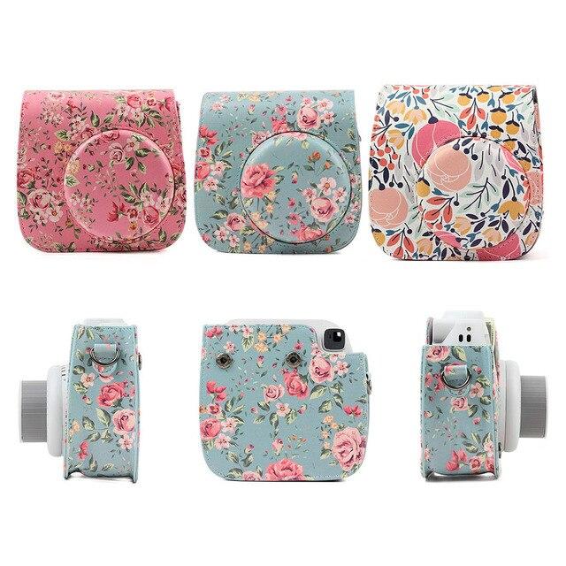 Schouder Camera Tas Beschermhoes Kleurrijke Bos Patronen Lederen Camera Tas Voor Fujifilm Instax Mini 8/ MINI8 +/ 9