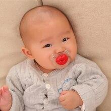 Горячая Милые Губы Свинья нос губы пустышка забавная силиконовая соска большая круглая дыра соска Красные соски Прорезыватель для ухода за ребенком, соска
