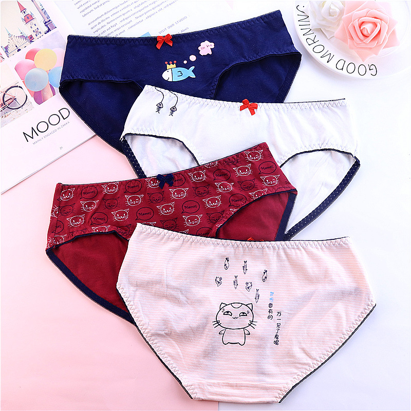 Hot Sale! Lemon Apple Women Sexy   Panties   Seamless Cotton Breathable Bowknot Briefs Plus Size Girl Underwear Lingerie 3NK148
