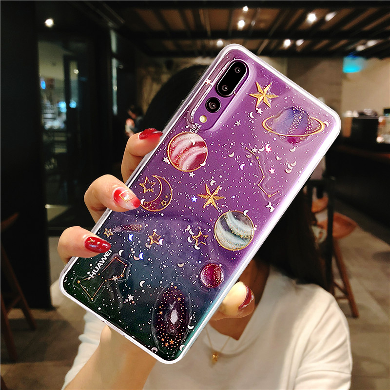 Universe Planet Soft Case For Huawei P30 Pro P20 P10 Plus Mate 20X 20 10 Lite Nova 4 3I Honor 7A 8X V10 Y9 2018 Y6 Prime P Smart