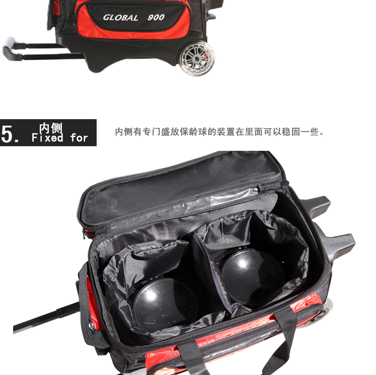Bowling Equipment New Arrival Storm Trolley Double Ball Bag 2 1680d Sports Entertainment In Bowlings From On