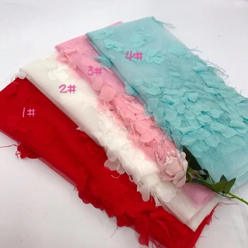BEATIFICAL New arrival african embroidered lace fabrics 2018 high quality white and red lace fabric for weddding 5yards JYN295