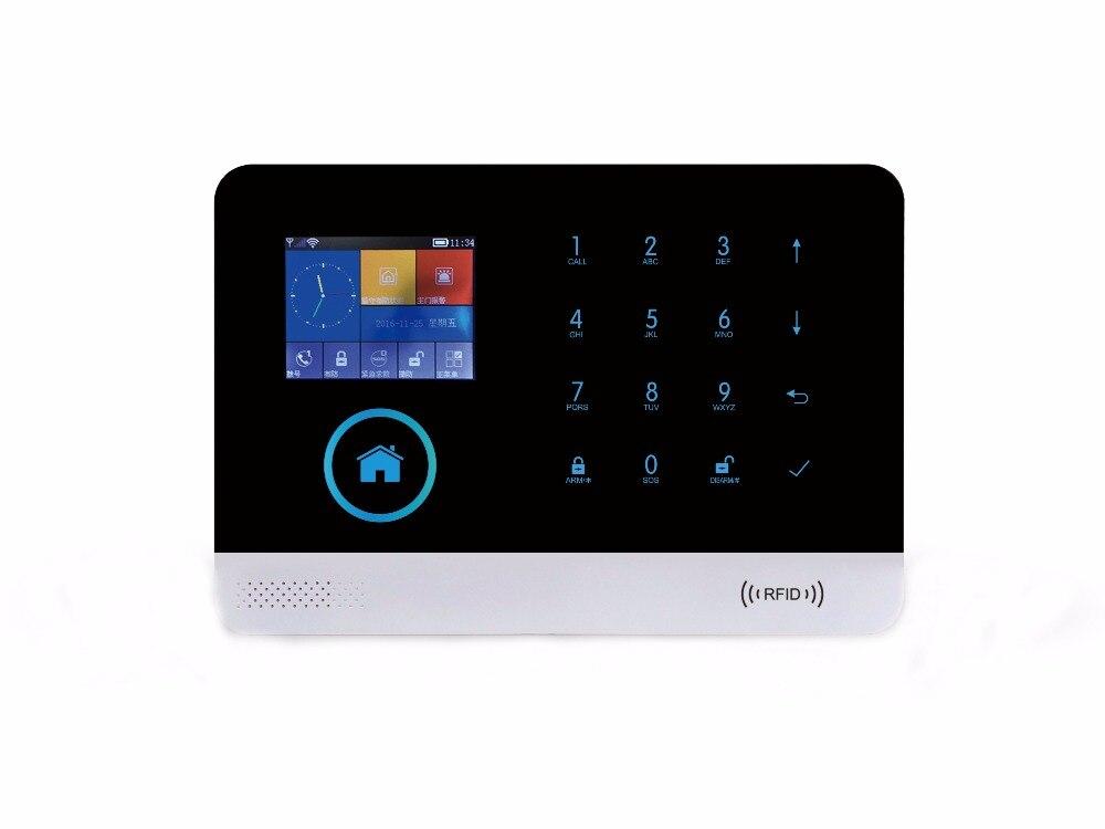 Smartyiba Беспроводной Wi-Fi SMS GSM Автодозвон Главная охранной сигнализации с Беспроводной сирена пожарной Детекторы дыма движения PIR Сенсор