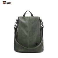 2cf6cdcea Brown Backpack Female 2019 New Women PU Leather Back Pack Bag High Quality  Softback One Shoulder