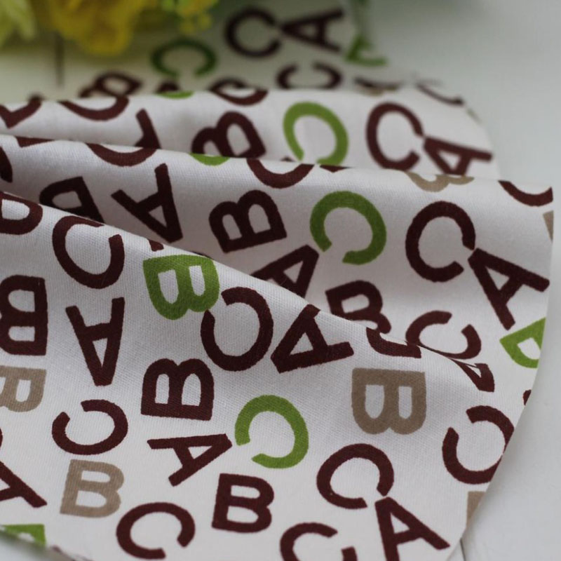 New Arrival! Fashion ABC letter Printed 100% Cotton Fabric 50x160cm for DIY sewing bedding quilt cloth