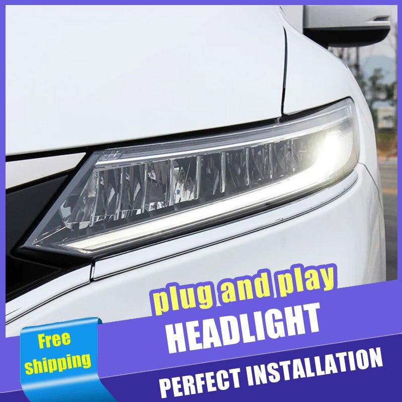 2 pièces Voiture Style LED phares pour Honda Jade 13-19 pour Jade lampe frontale LED DRL Lentille Double Faisceau H7 Xénon CACHÉ bi xénon lentille