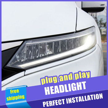 2PCS Car Style LED headlights for Honda Jade 13-19 for Jade head lamp LED DRL Lens Double Beam H7 HID Xenon bi xenon lens