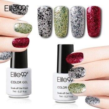 Elite99 Glänzende Glitter Nagel Gel 7 ml LED Tränken Weg Von UV Farbe Gel Polituren Nail art Maniküre Brilliant Gel Für nagel Extensions