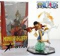 """Frete Grátis Fresco 7 """"One Piece Monkey D Luffy Batalha Ver. Figuarts Zero Encaixotado PVC Action Figure Toy Presente Coleção Modelo"""