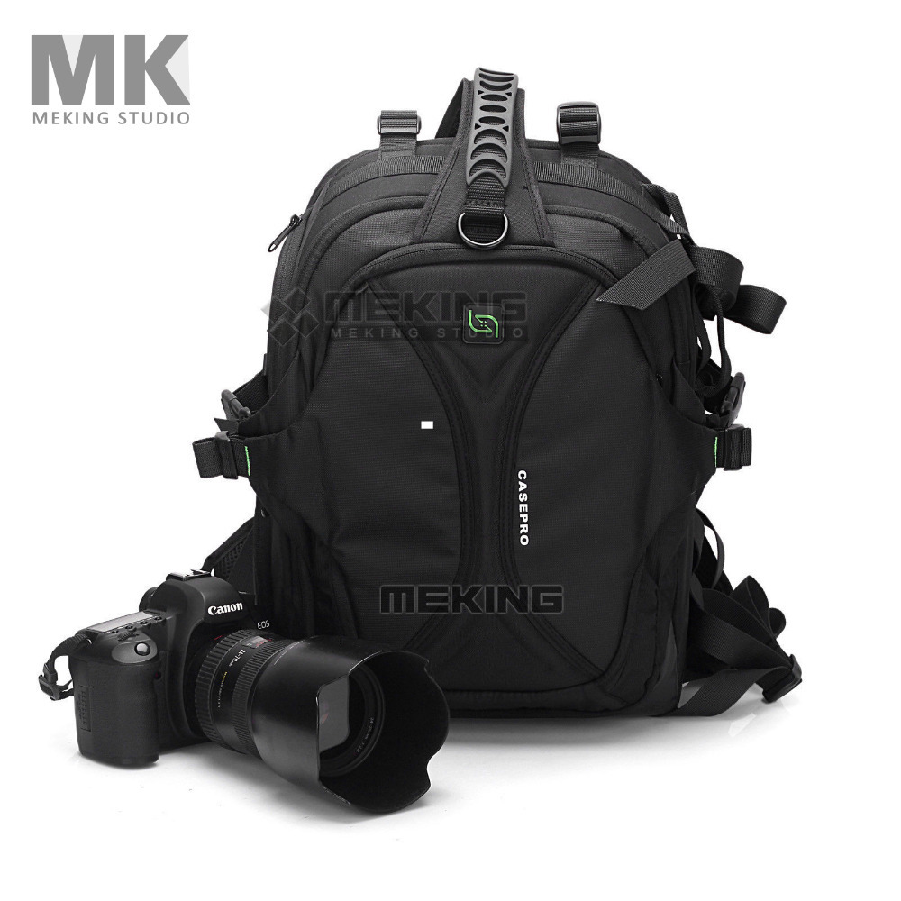 CASEPRO Camera Video Bags backpack  Phoenix 111 Waterproof High capacity  for Canon Nikon Pendax Sony DSLR SLR Camera high quality army green rucksack canvas backpack camera bag for nikon canon sony dslr camera