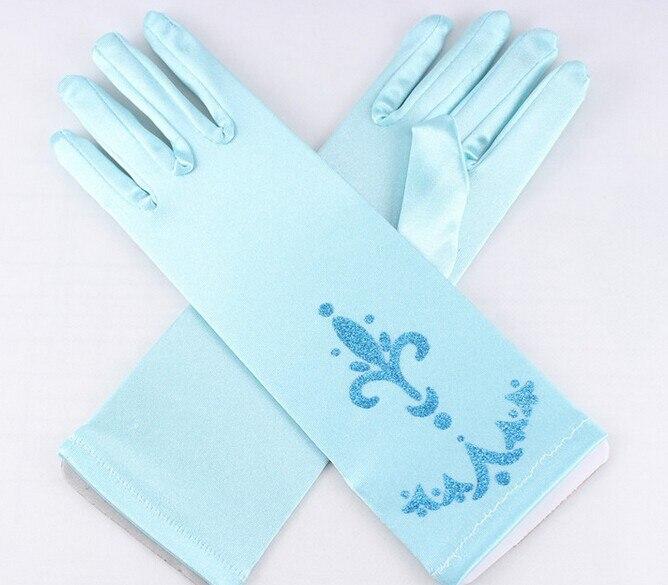 Elsa Anna Cosplay guantes guantes de impresión muchacha de los niños de dibujos