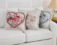 Classic Europe Styl Rzuć Poszewka na poduszkę poszewka Poszewki Sofa Samochodów Użytkowa Rose Flower Poduszka Case Pillowcover Tekstylia Domowe