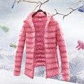 15 Cores de Inverno Mulheres Jaqueta Ultra Light Para Baixo Casacos Stand gola do Casaco Mais Quente Sólida Feminino Parka e Casaco de Qualidade Superior YF66