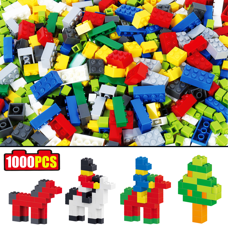 1000pcs DIY building Blocks set Creative bricks Compatible Legoed city animal Construction Enlighten toys For children Friends 2016 kids diy toys plastic building blocks toys bricks set electronic construction toys brithday gift for children 4 models in 1