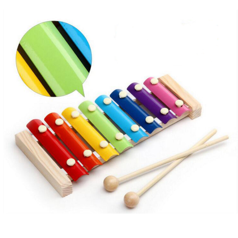 Montessori Toys Educational Wooden Toys for Children Early Learning Xylophone Musical Toys Wisdom Music Instrument 8 Tone