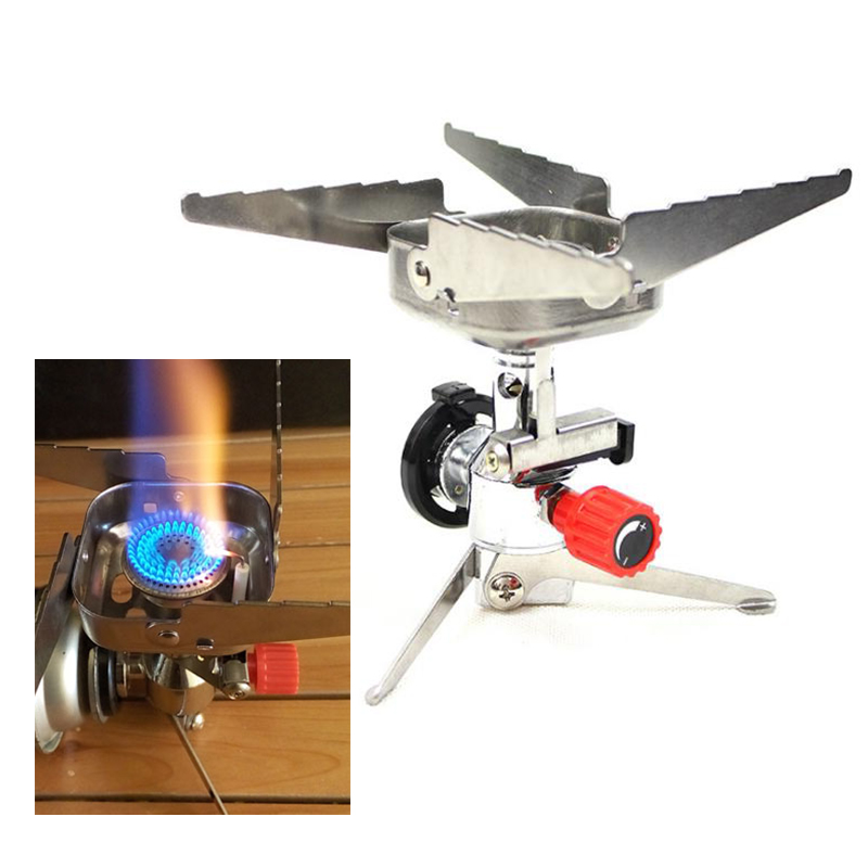 Portable Gas Stove Outdoor Stove Mountaineering Fishing Camping Stove Long Gas Tank Electronic Stove Wind Stove#*