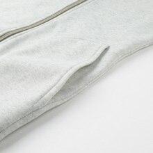 Korean Style Long Full Zip Hoodie