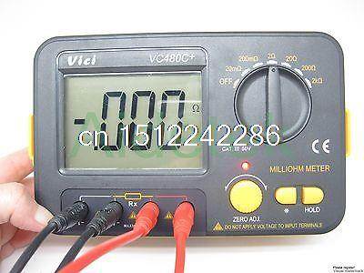 AideTek Precision Milliohm Meters vs Extech 4 wire kelvin clip 0adjust large LCD