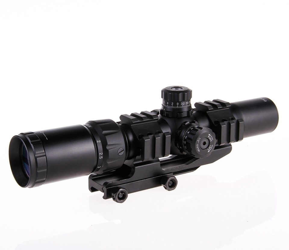 2016 Hunting Riflescopes 1 5 4x30 Suitable for all Gun Mount For Optics Tactical font b