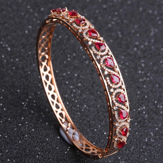 gold in bangles bangle ruby bracelets bracelet white carat gem