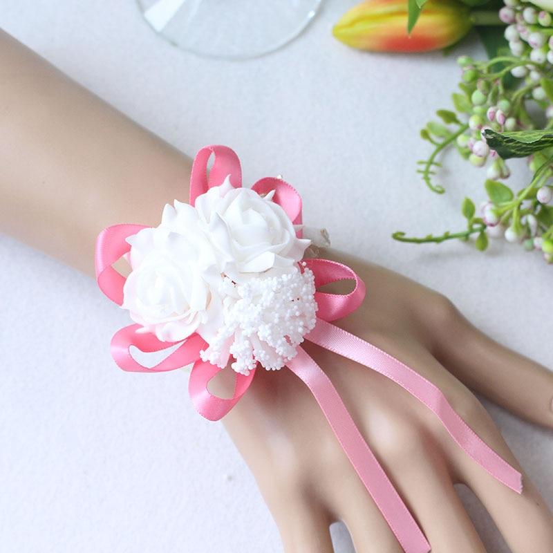 Wrist Flower Bridesmaid Hand Flowers wedding corsage  (10)