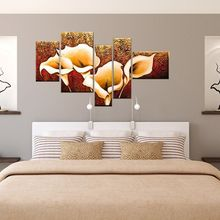 Classic European Style Hand Painted Oil Painting On Canvas Wall Art Flower Pictures Modern Abstract Paintings For Living Room стоимость