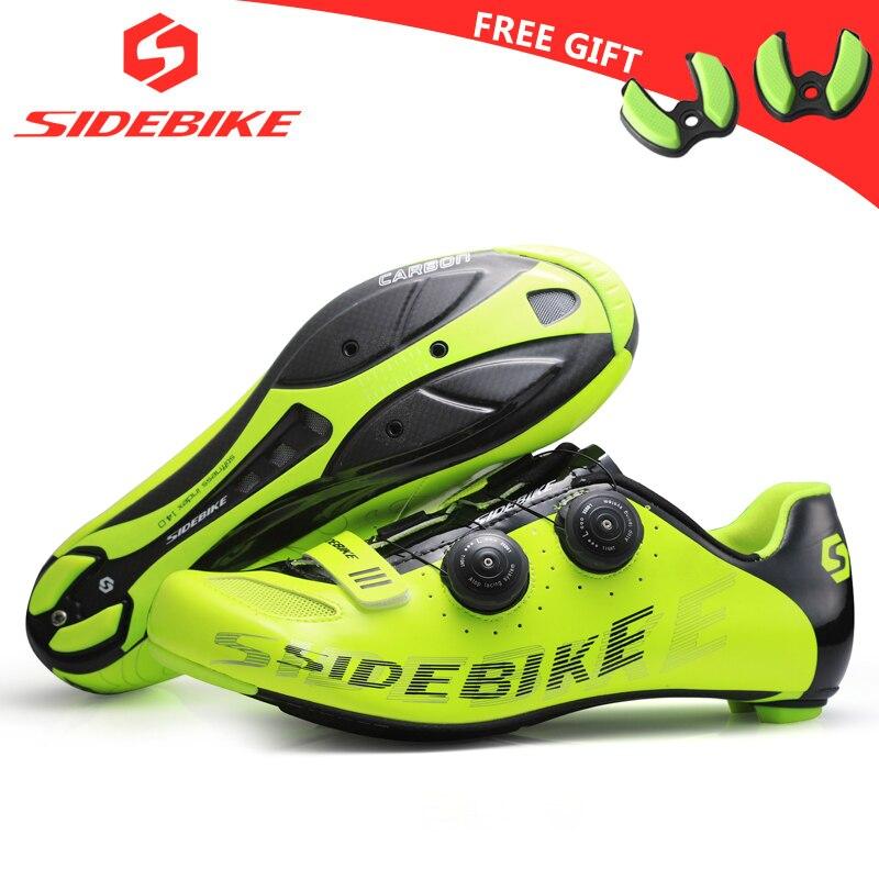 Sidebike carbonio ciclismo su strada scarpe uomo scarpe da corsa road bike ultralight autobloccante bicicletta sneakers traspirante professionale