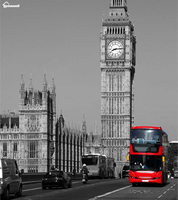 Blanket plaid Warmth Soft Plush Easy Care Machine Wash Red on a Bus in London by the Big Ben Plaids on the Sofa Bed Throw Kid